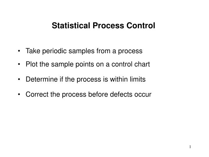 statistical process control n.
