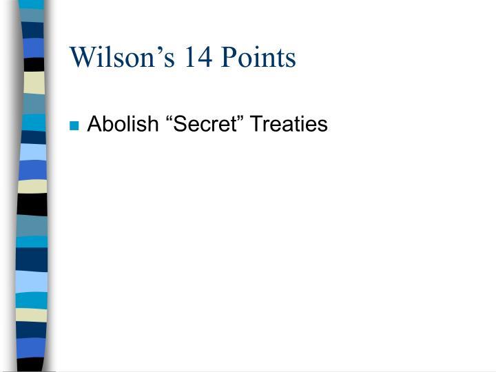 Wilson s 14 points1