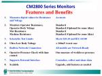 cm2800 series monitors