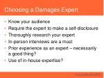 choosing a damages expert