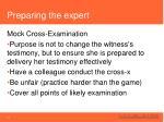 preparing the expert1