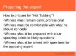 preparing the expert2
