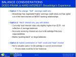balance considerations dodd frank hard interest broadridge s experience