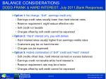 balance considerations dodd frank hard interest july 2011 bank responses