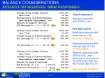 balance considerations interest on reserves bank responses