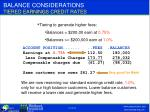 balance considerations tiered earnings credit rates1