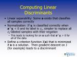 computing linear discriminants