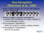 face recognition belhumeur et al 1996