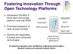 fostering innovation through open technology platforms