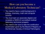 how can you become a medical laboratory technician