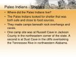 paleo indians shelters