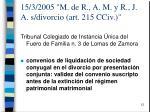 15 3 2005 m de r a m y r j a s divorcio art 215 cciv