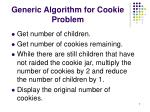 generic algorithm for cookie problem