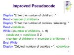 improved pseudocode