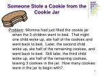 someone stole a cookie from the cookie jar