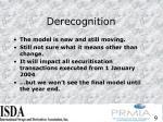 derecognition