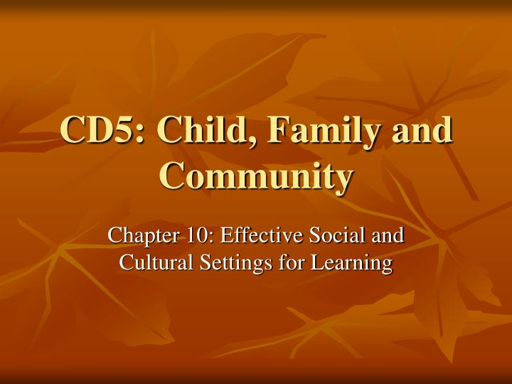 cd5 child family and community n.