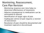 monitoring reassessment care plan revision