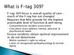 what is f tag 309
