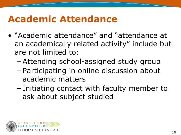 Academic Attendance