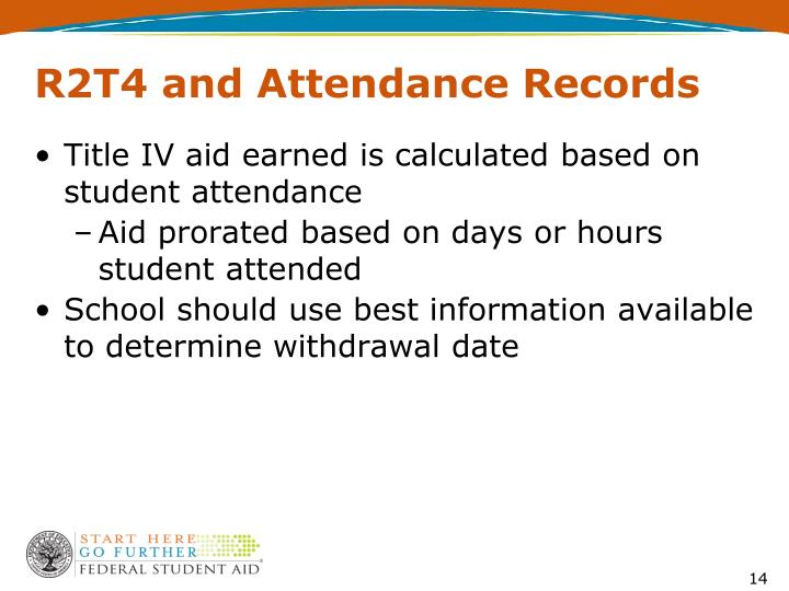 R2T4 and Attendance Records