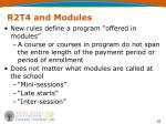 r2t4 and modules