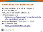 resources and references