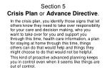 section 5 crisis plan or advance directive