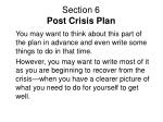 section 6 post crisis plan