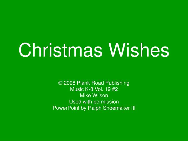 christmas wishes n.