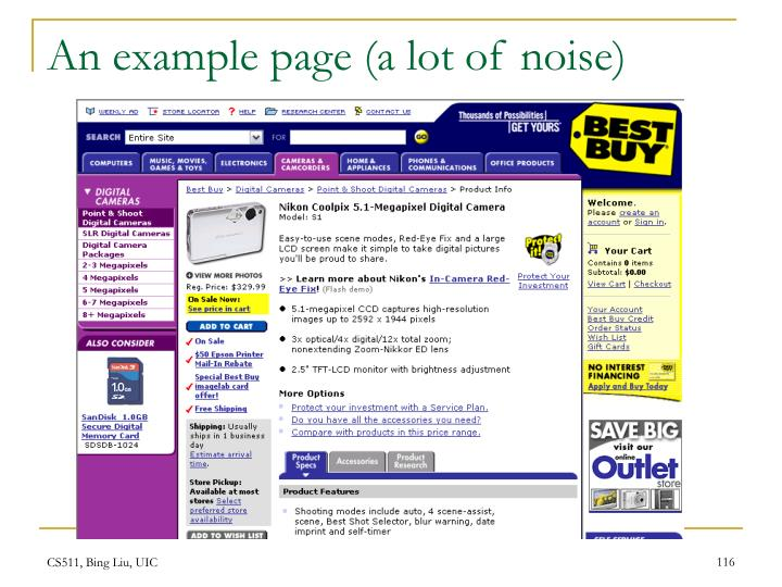 An example page (a lot of noise)
