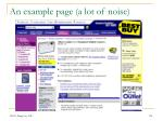 an example page a lot of noise