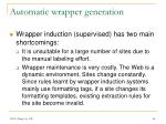 automatic wrapper generation