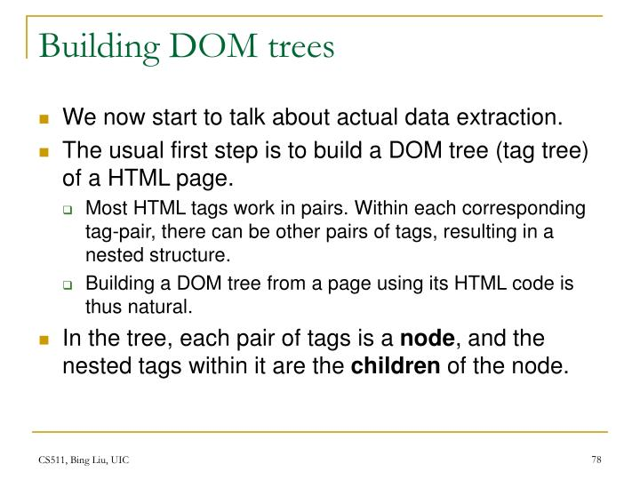 Building DOM trees