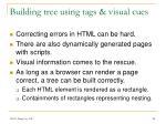 building tree using tags visual cues