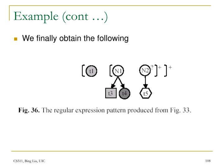 Example (cont …)