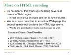 more on html encoding