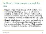 problem 1 extraction given a single list page