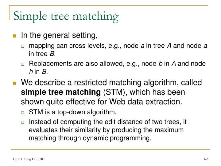 Simple tree matching