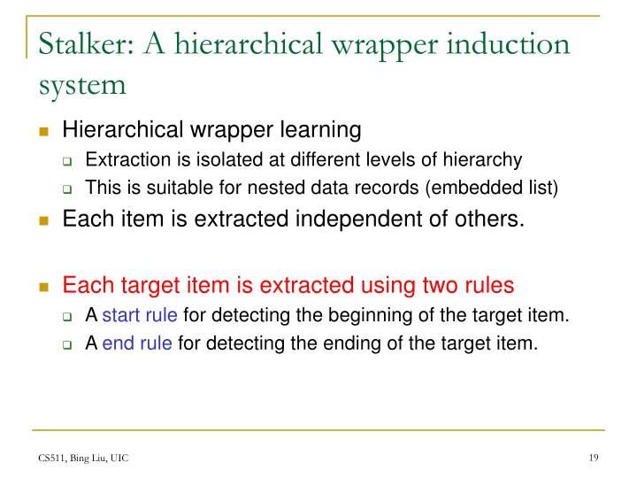 Stalker: A hierarchical wrapper induction system