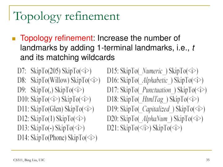 Topology refinement