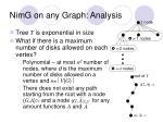 nimg on any graph analysis