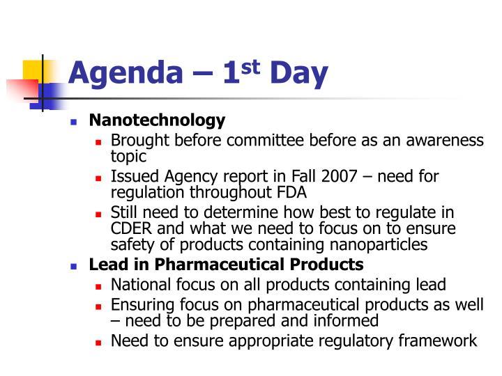 Agenda – 1