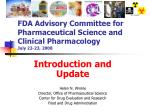 fda advisory committee for pharmaceutical science and clinical pharmacology july 22 23 2008