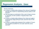 regression analysis uses