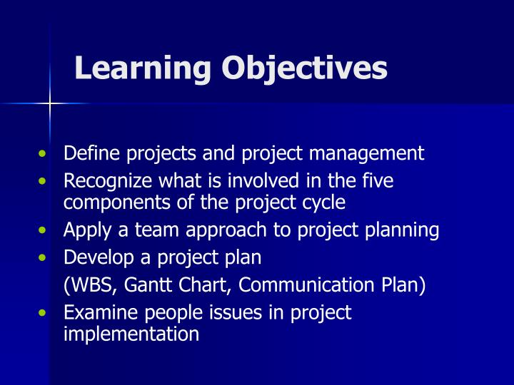 define project management The more clearly you define your project's objectives project management: how to state your project's objectives.