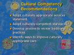 cultural competency recommendations