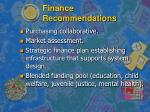 finance recommendations