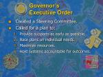 governor s executive order