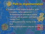 path to implementation